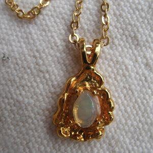Vintage Opal Pendant Necklace